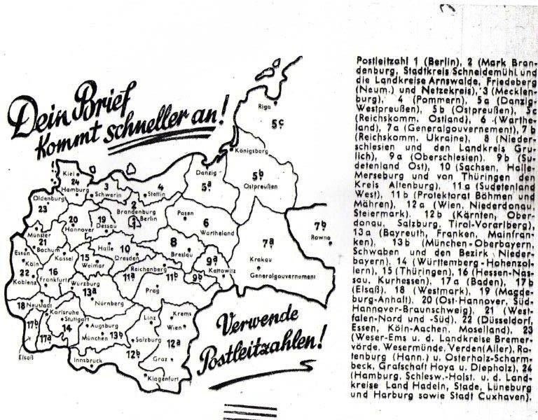 Codes postaux allemands 39-45