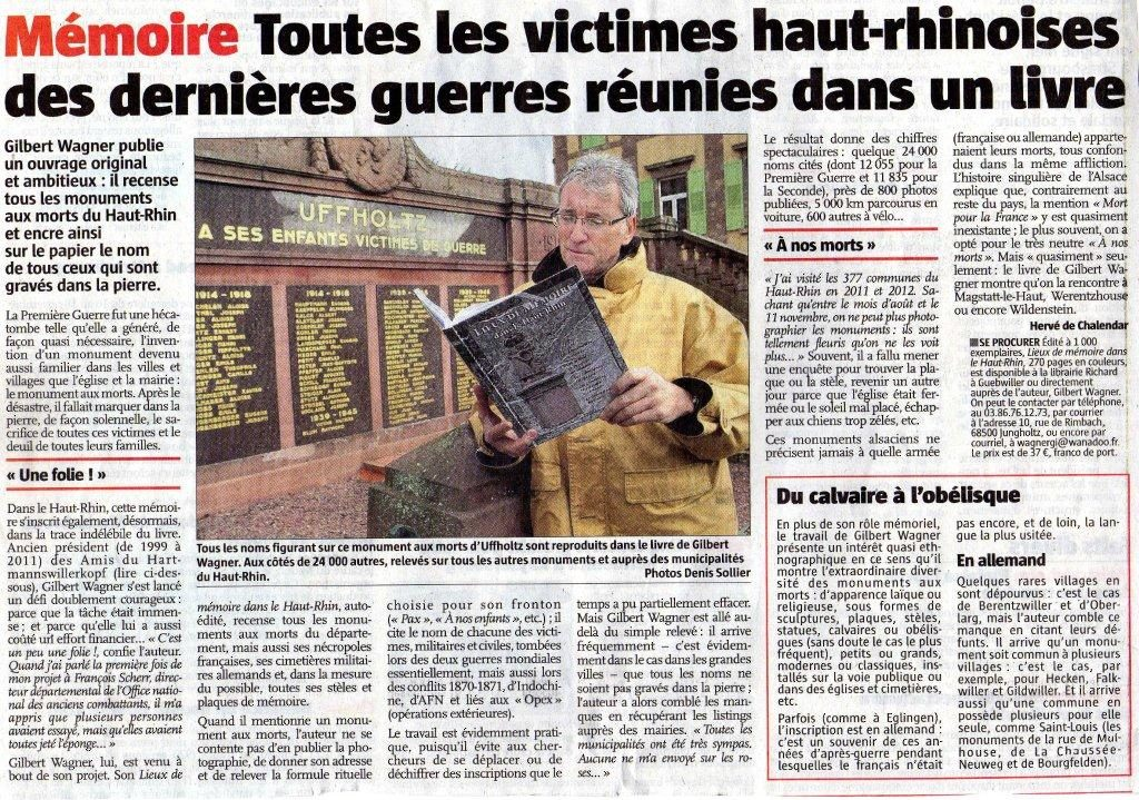 L'Alsace du 9.11.12