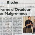 Oradour et Malgré-Nous Républicain Lorrain 27.9.13