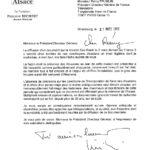 Lettre de Philippe Richert, président de la Région Alsace, à Rémy Pflimlin, président directeur général de France Télévisions