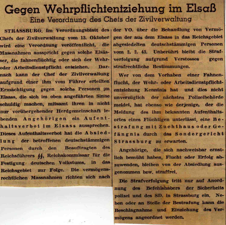 Kolmarer Kurier du 15.10.1943